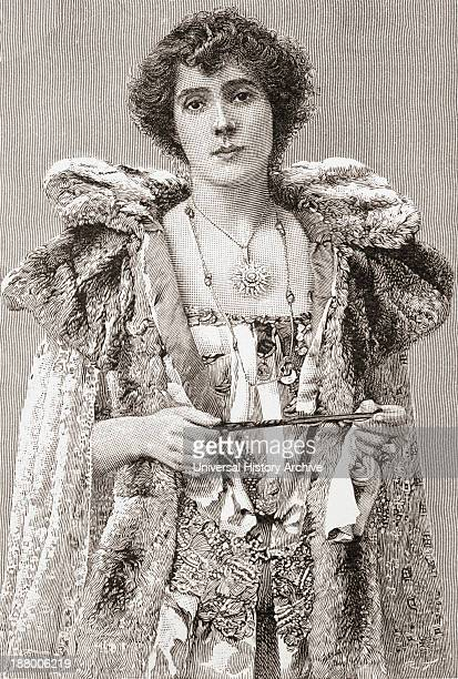 Mrs Patrick Campbell Nee Beatrice Stella Tanner 1865 – 1940 British Stage Actress From The Strand Magazine Published 1897