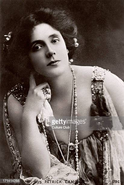 Mrs Patrick Campbell - portrait - British actress George Bernard Shaw created the role of Eliza Doolittle in Pygmalion for her - 9 February 1865 - 9...