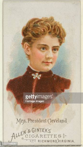 Mrs President Cleveland from World's Beauties Series 1 for Allen Ginter Cigarettes 1888 Frances Cleveland was First Lady of the United States from...