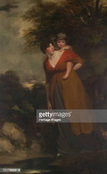 Mrs. Richard Brinsley Sheridan and Her Son . Artist John Hoppner.