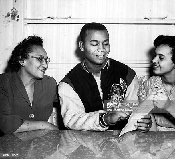 Mrs Rita Walker Larry Doby of the Cleveland Indians and his wife Helyn Doby circa 1949