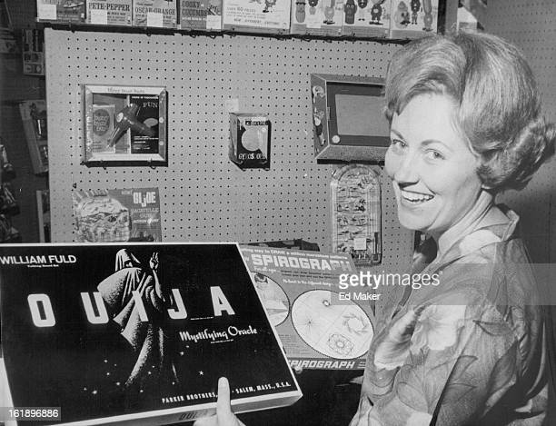 DEC 6 1967 DEC 9 1967 Mrs Ronald Gavito 289 Muriel Drive displays a Ouija Board and a Spirograph set Both are popular this year Ouija is a...