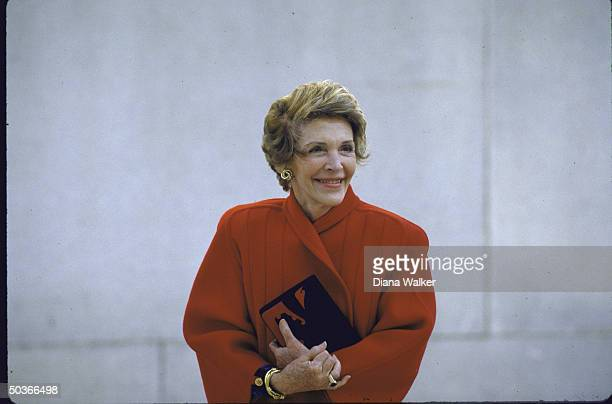 Mrs Ronald W Reagan during President Ronald W Reagan's stay at Bethesda Hospital regarding his prostate problem