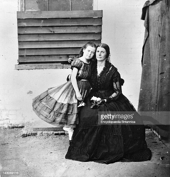 Mrs Rose Greenhow With Her Daughter Mrs Rose Greenhow And Her Daughter In Old Capitol Prison In Washington Where She Was Held As A Confederate Spy In...