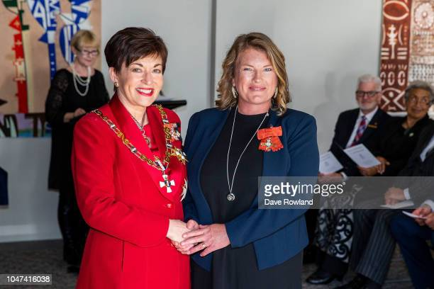 Mrs Samara Nicholas of Whangarei receives MNZM for services to marine conservation and education from Dame Patsy Reddy GovernorGeneral of New Zealand...