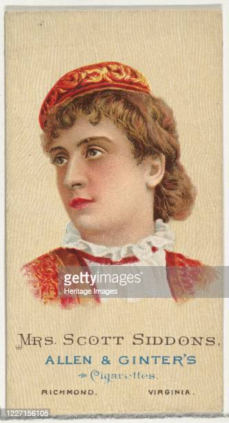 Mrs Scott Siddons from World's Beauties Series 2 for Allen Ginter Cigarettes 1888 Mary Frances ScottSiddons was a British actor and dramatic reader...