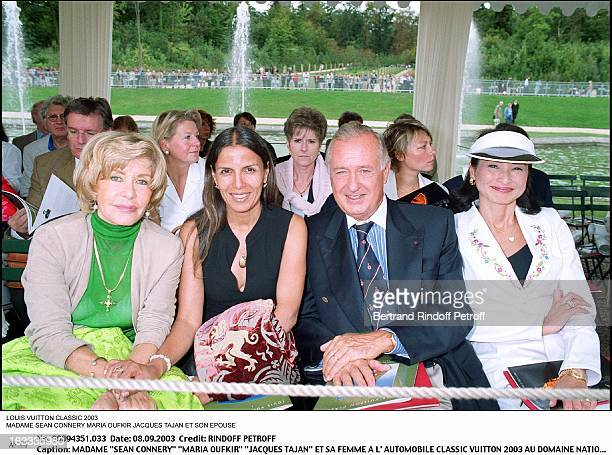 Mrs Sean Connery Maria Oufkir Jacques Tajan and his wife at the Classic Automotive Vuitton 2003 at the national domain of Saint Cloud