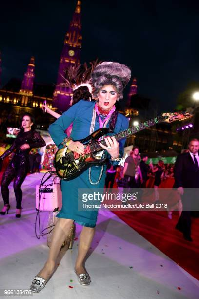 Mrs Smith arrives for the Life Ball 2018 at City Hall on June 2 2018 in Vienna Austria The Life Ball an annual charity event raising funds for HIV...