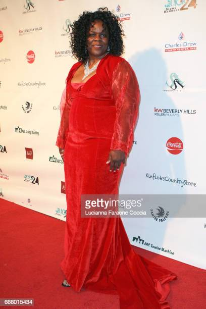 Mrs Stormyweather Banks attends the Santee High School Fashion Show at Los Angeles Trade Technical College on April 7 2017 in Los Angeles California