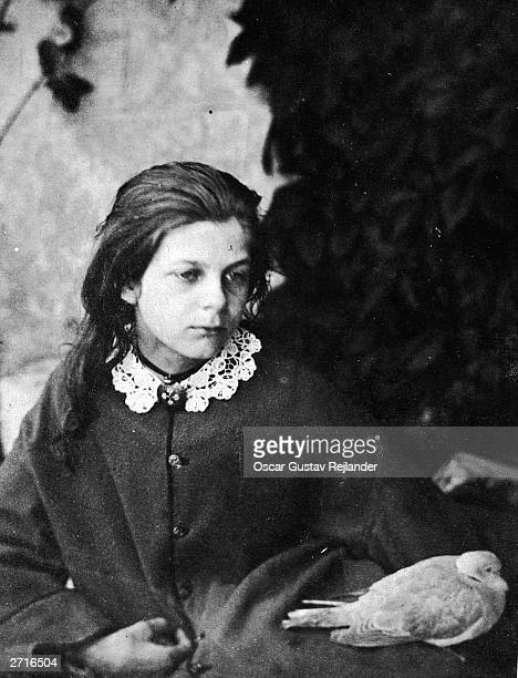 Mrs Tennyson's niece Agnes Grace Weld at Croft Rectory Original Artwork An Albumen print by Lewis Carroll