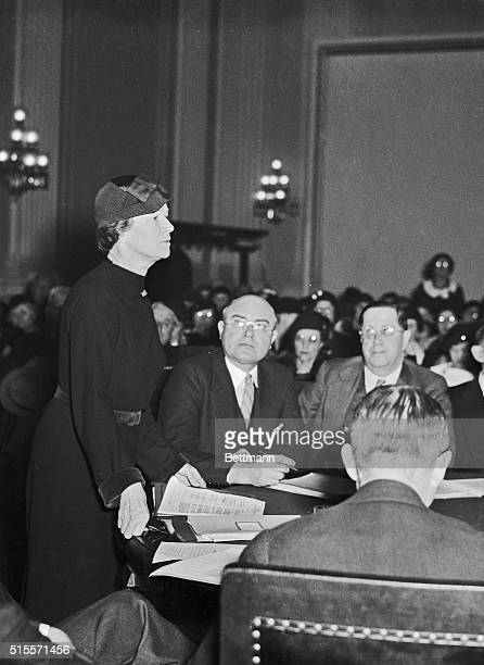 Mrs Thomas N Hepburn legislative chairman of the national committee for birth control legislation who is the Mother of Katharine Hepburn of stage and...