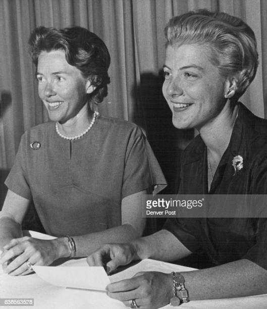 Mrs Thomas P Owen left is first vice president of the Junior League and Mrs Thomas Francis is treasurer Credit Denver Post