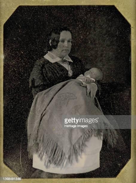 Mrs. Thomas Ustick Walter and Her Deceased Child, circa 1846. Artist W. & F. Langenheim, William Langenheim.