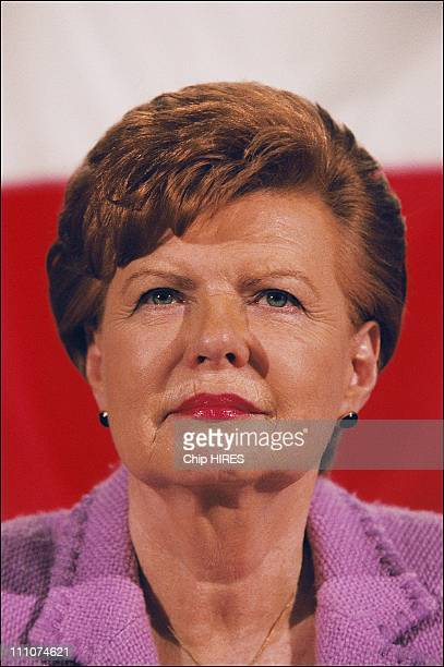 Mrs Vaira Vike Freiberga president of Latvia at the Explanation Campaign of Constitution in Lille France on April 28th 2005
