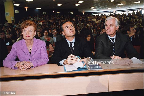 Mrs Vaira Vike Freiberga president of Latvia Franco Frattini vicepresident of the European Commission and Michel Barnier French Foreign Affairs...
