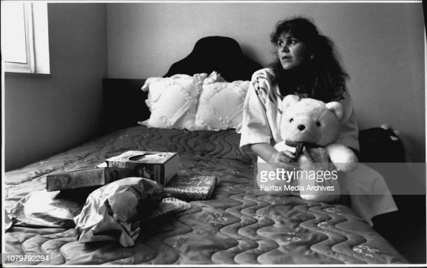 Mrs Voula Karipidis sits in the playground where Helen was last seenThree years ago on December 22 1988 ten years old Helen Karipidis of Marrickville...