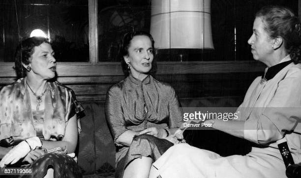 —Mrs William S Sweet Jr vicechairman of the women's committee of the Denver Art Museum Madame Dione Lucas French cook Mrs Paul Atchison chairman of...