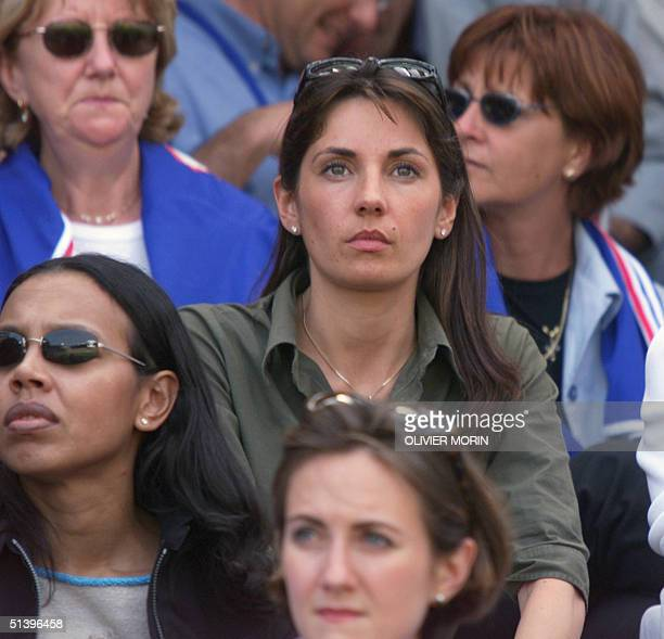Mrs Zidane watches the game during the Euro2000 Group D first round match between France and the Czech Republic 16 June 2000 at the JanBreydel...