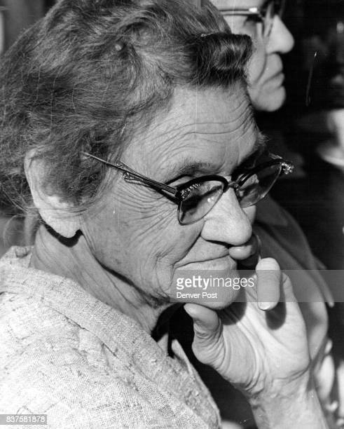 Mrs Zona Wisley is quiet thoughtful for moment during party for her other pensioners Credit Denver Post