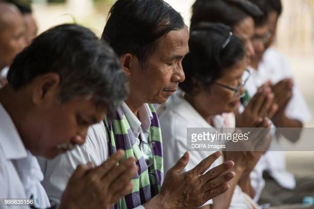 MrYang Saing Koma bows while the monks bless them Grassroots Democratic Party is running for the July 2018 elections with Yang Saing Koma as...
