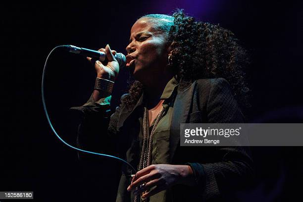 Ms. Dynamite performs on stage at O2 Academy on September 22, 2012 in Leeds, United Kingdom.