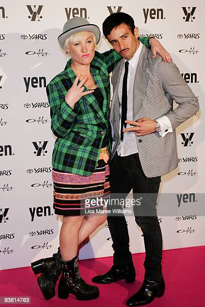 Ms Fitz and Elvis Di Fazio arrive for the Yen Young Woman of the Year Awards 2008 at the City Recital Hall on November 25 2008 in Sydney Australia