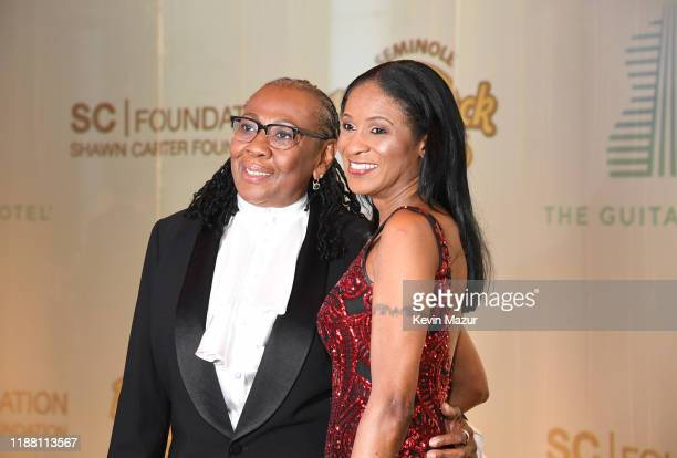 Ms Gloria Carter and Roxanne Wiltshire attend the Shawn Carter Foundation Gala at Hard Rock Live in the Seminole Hard Rock Hotel Casino on November...