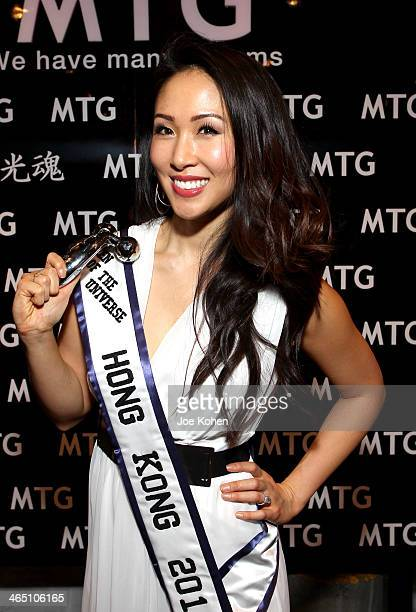 Ms Hong Kong 2014 Erin Tjoe attends the GRAMMY Gift Lounge during the 56th Grammy Awards at Staples Center on January 25 2014 in Los Angeles...