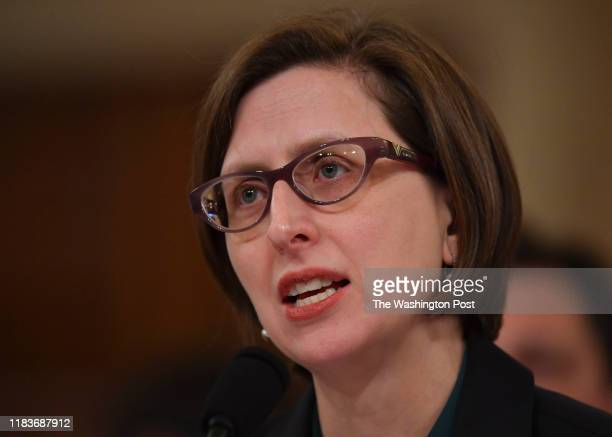 Ms Laura Cooper Assistant Secretary of Defense for Russian Ukrainian Eurasian Affairs testifies before the House Intelligence Committee's impeachment...