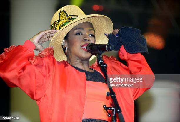 Ms Lauryn Hill performs during the 2014 Bonnaroo Music Arts Festival on June 14 2014 in Manchester Tennessee
