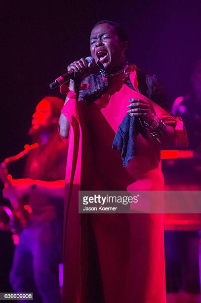 Ms Lauryn Hill performs on stage at the Fillmore Miami Beach on December 9 2016 in Miami Beach Florida