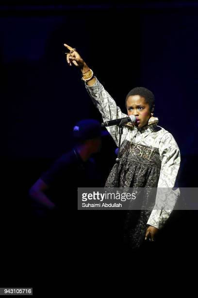 Ms Lauryn Hill performs on stage during the Singapore Jazz Festival 2018 at Marina Bay Sands Expo Hall on April 7 2018 in Singapore