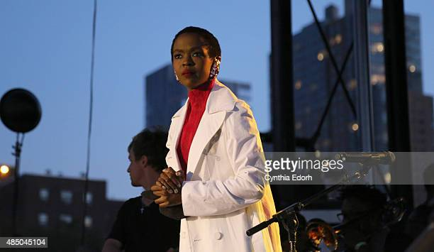 Ms Lauryn Hill performs onstage at Afropunk Fest at Commodore Barry Park on August 22 2015 in Brooklyn New York