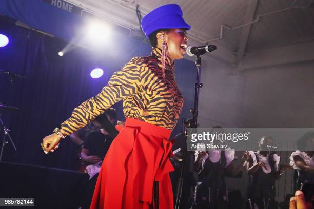 Ms Lauryn Hill performs onstage during the Opening Night Party for the 2018 Greenwich International Film Festival at the Boys and Girls Club of...