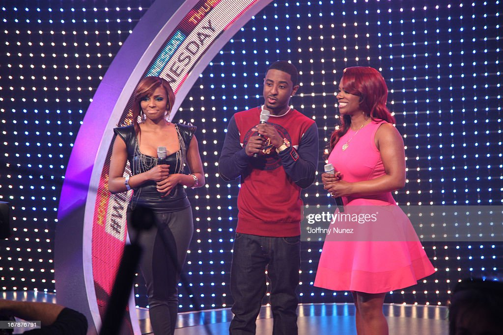 Ms Mykie, Shorty Da Prince and Kandi Burruss visit BET's '106 & Park' at BET Studios on May 1, 2013 in New York City.