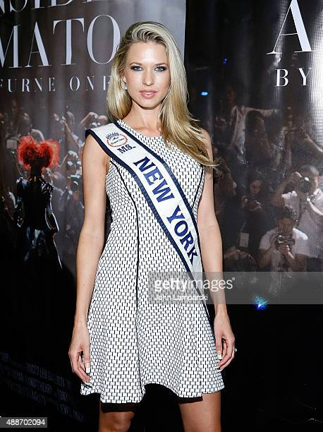 Ms New York Nicole Kulovany attends 'Inside Amato' New York premiere at Liberty Theater on September 16 2015 in New York City