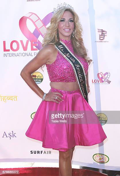 Ms North America Universe 2016 Carla Gonzalez attends the Love International Film Festival closing ceremony at The Wilshire Ebell Theatre on July 16...