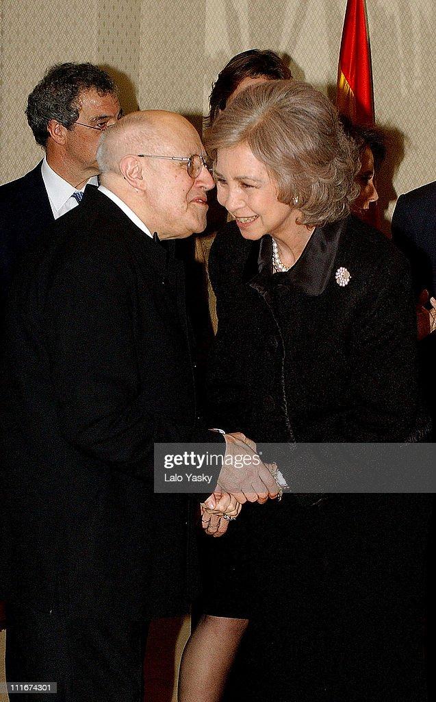 Queen Sofia of Spain Attends a Mstislav Rostropovich Concert