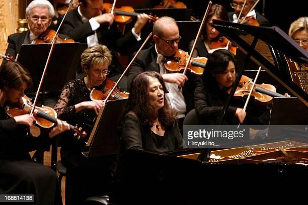 Mstislav Rostropovich conducting New York Philharmonic on Wednesday night April 27 2005This imageMartha Argerich performing Prokofiev's 'Piano...