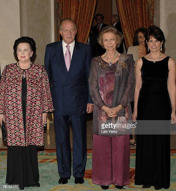 Mstislav Rostropovich widow Galina King Juan Carlos Queen Sofia and Mstislav Rostropovich daughter Olga attend tribute to Mstislav Rostropovich at...