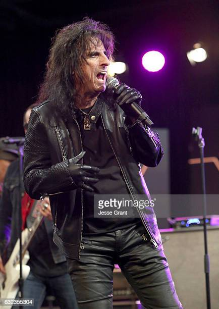 Msuician Alice Cooper performs onstage at the TEC Awards during NAMM Show 2017 at the Anaheim Hilton on January 21 2017 in Anaheim California