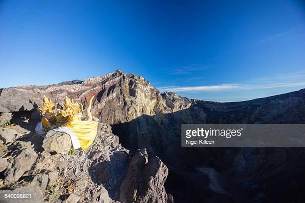 Mt Agung volcano summit