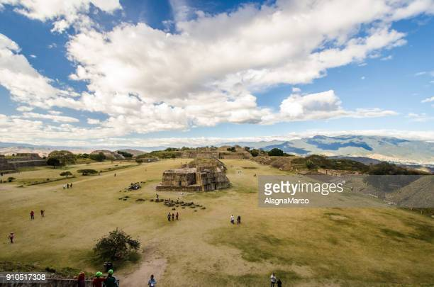 mt. alban archaeological site - oaxaca stock photos and pictures