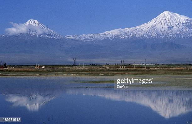 Mt Ararat As Seen From The Ararat Valley Armenia 2001