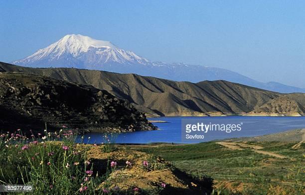 Mt Ararat From Garni Village With Azat Reservoir In The Foreground Armenia 1998