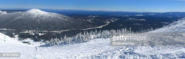mt. bachelor ski resort near bend, oregon - bend oregon stock photos and pictures