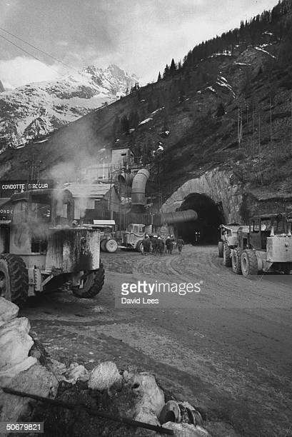 Mt Blanc tunnel that will be eventually connecting France and Italy