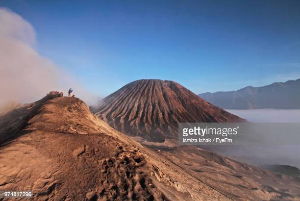 mt bromo against sky - surabaya stock pictures, royalty-free photos & images