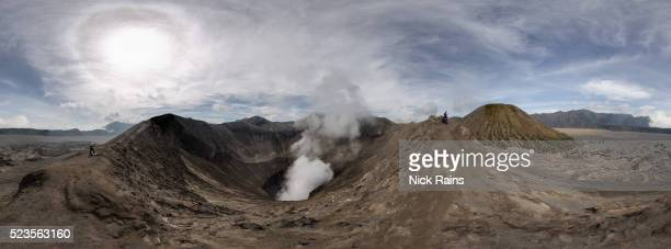 mt bromo and surrounding caldera - active volcano stock pictures, royalty-free photos & images