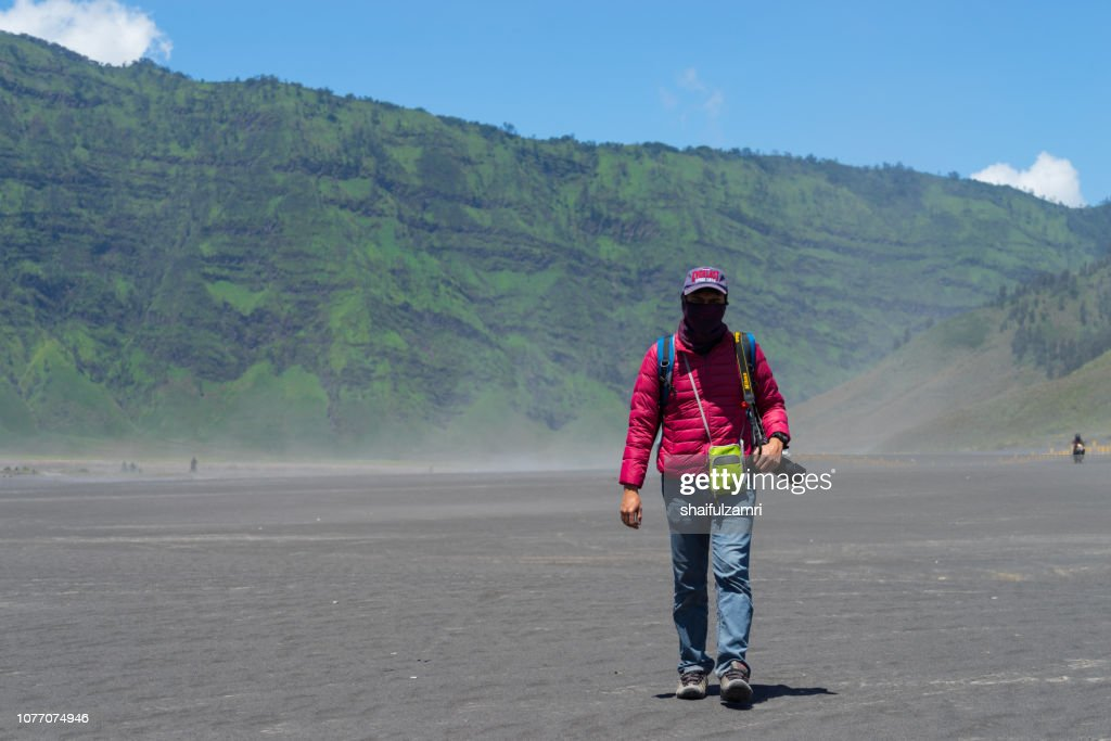 Mt. Bromo in Indonesia - well known for landscape beauty and active volcanoes. : Stock Photo